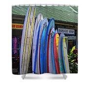 Surfboards At Hanalei Surf Shower Curtain