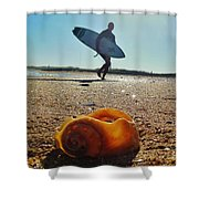 Surfer And Shell Hatteras Lighthouse 3 10/1 Shower Curtain