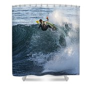 Surfer At Steamer Lane Shower Curtain by Bruce Frye