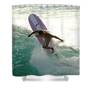 Surfer Cutting Back Shower Curtain