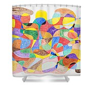 Abstract Dance Party  Shower Curtain