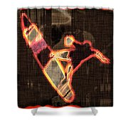Surfer Shower Curtain by David G Paul