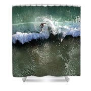 Surfer From The Sky Shower Curtain