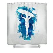 Surfer Girl Shower Curtain by Aged Pixel