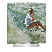 Surfer Hatteras Island 3 7/16 Shower Curtain