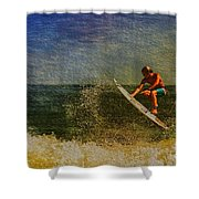 Surfer In Oil Shower Curtain