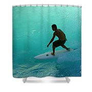 Surfer In The Zone Shower Curtain