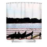 Surfer Parade Shower Curtain