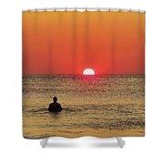 Surfer Sunrise 3 10/2 Shower Curtain