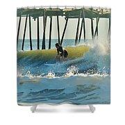 Surfer Sunrise 31 10/2 Shower Curtain