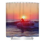 Surfer Sunrise 6 10/2 Shower Curtain