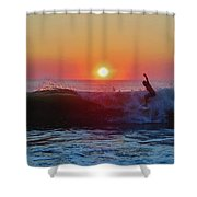 Surfer Sunrise 8 10/2 Shower Curtain