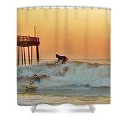 Surfer Sunrise 9 10/2 Shower Curtain