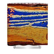 Surfer The Other White Meat Hand Painted By Mark Lemmon Shower Curtain