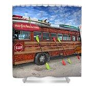 Surferbus Shower Curtain