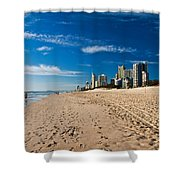 Surfers Paradise Beach By Day Shower Curtain