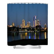 Surfers Paradise By Night Shower Curtain