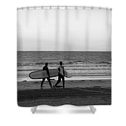 Surfers Shower Curtain