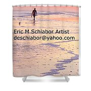 Surfers Sunset Shower Curtain