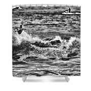 Surfin In The Usa V8 Shower Curtain