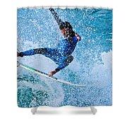 Surfing 2 Shower Curtain