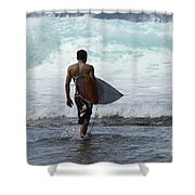 Surfing Brazil 3 Shower Curtain