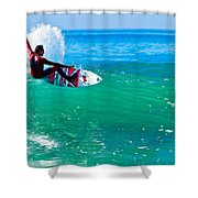 Surfing California Shower Curtain