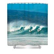 Surfing Duel Shower Curtain