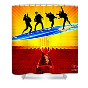 Surfing For Peace Shower Curtain