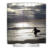 The Surfer Shower Curtain