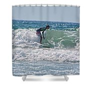 Surfing In California Shower Curtain