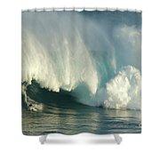 Surfing Jaws 1 Shower Curtain
