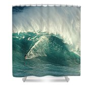 Surfing Jaws 2 Shower Curtain