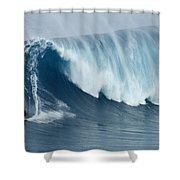 Surfing Jaws 5 Shower Curtain
