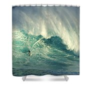Surfing Jaws Hang Loose Brother Shower Curtain