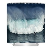Surfing Jaws Running With Wolves Shower Curtain