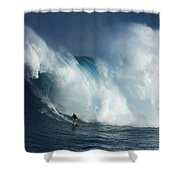 Surfing Jaws Surfing Giants Shower Curtain