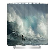 Surfing Jaws The Wild Side Shower Curtain