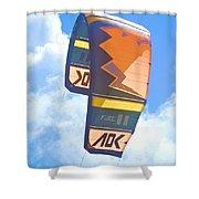 Surfing Kite Shower Curtain