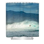Surfing Light Shower Curtain