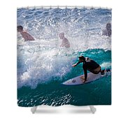 Surfing Maui Shower Curtain