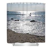 Surfing Mercury Shower Curtain