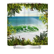 Surfing Paradise Shower Curtain