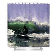 Surfing Pt. Judith Shower Curtain