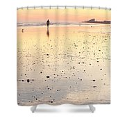 Surfing Sunset Shower Curtain
