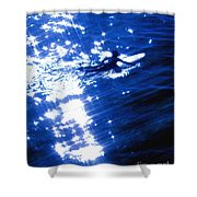 Surfing The Stars Shower Curtain
