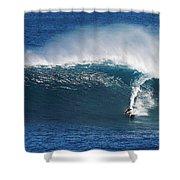 Surfing Waimea Bay Shower Curtain