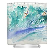 Surf's Up Shower Curtain by Lynn Buettner