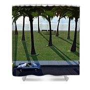 Surfside Shower Curtain by Cynthia Decker