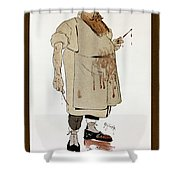 Surgeon: Caricature, 1906 Shower Curtain